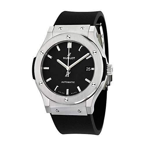 Hublot Classic Fusion Black Dial Black Rubber Mens 45mm Watch - Watch Classic Mens Hublot