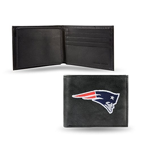 NFL New England Patriots Embroidered Leather Billfold - England Tri Rico Fold New Wallet Patriots