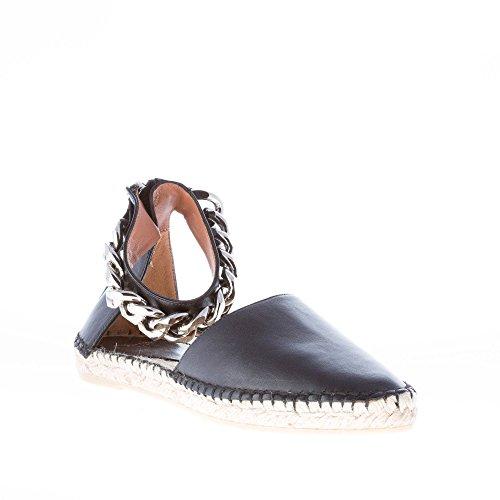 Catena Givenchy Caviglia Pelle Con Alla Espadrillas Donna In Nero qZRqYS
