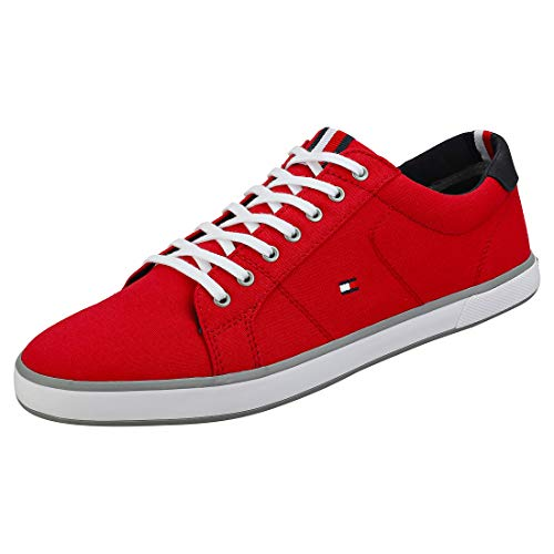 Tommy Hilfiger Iconic Long Lace Sneaker Mens Casual Trainers in Red - 42 EU