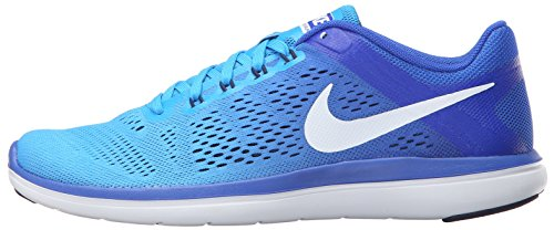 NIKE Women's Flex 2016 RN Running Shoe, Blue Glow/White/Racer Blue/Midnight Navy, 9 B US
