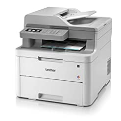 Brother DCP-L3550CDW Colour Laser Printer – All-in-One, Wireless/USB 2.0, Printer/Scanner/Copier, 2 Sided Printing, A4…