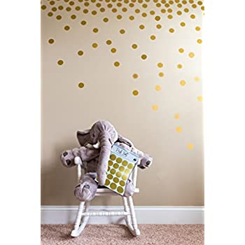 Posh Dots Metallic Gold Circle Wall Decal Stickers For Festive Baby Nursery  Kids Room Trendy Cute
