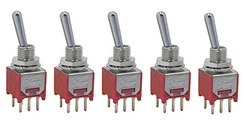 Pcb Mount Switches - 5 pcs DPDT Taiwan Subminiature sub mini ON OFF ON 3-way 6p Toggle Switch for PCB mount smt smd
