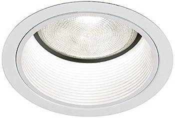 "Lightolier 5"" Line White Baffle Recessed Light Trim"