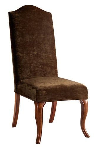 Bailey Street 6091822 Truffle Hb - Chair Cover, Natural Wood Finish with Brown Velvet Shade