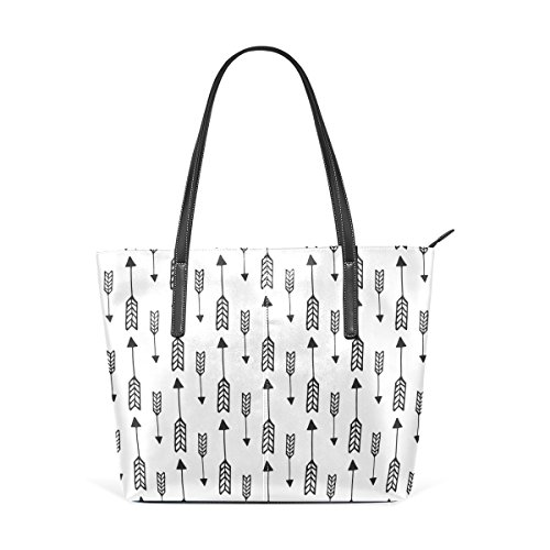 Schultertasche für Pattern Frauen Handtaschen und Hintergrund Handtasche Leder Arrow COOSUN Seamless Tasche PU wYOCxqEypP