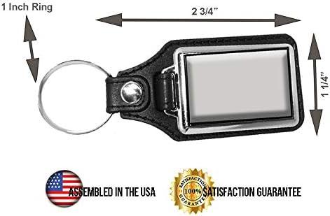 Brotherhood Halloween Michael Myers Illinois Land of Lincoln License Plate 59H390 Keychain Key Holder Key Ring for Men Heavy Duty Car Keyring for Men and Women