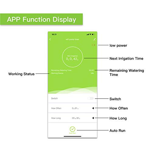 Indoor Plant Watering and Irrigation System IK10PW RAINPOINT WiFi Automatic Watering System Indoor Intelligent APP Automatic Watering System