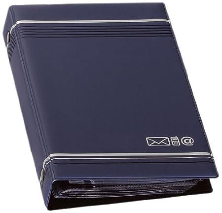 Durable 237558 Telindex Reliure à 4 Anneaux Répertoire 150 Contacts - 25 Fiches Pré-imprimées Anthracite Porte-cartes de visite
