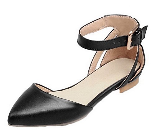 Sandales Fermeture 34 Noir à D'orteil Couleurs Femme Boucle GMBLA012577 Bas Mélangées Talon AgooLar zCRqwp4