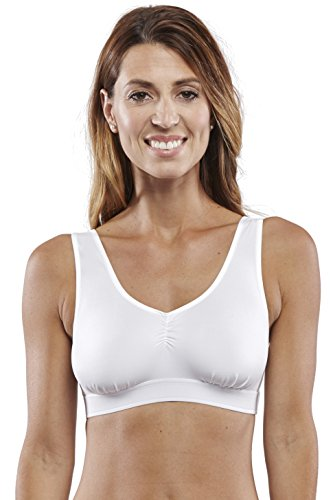 (Carole Martin Racerback Sport Bra with Low Impact for Yoga Cycling Hiking Fitness -34 White)