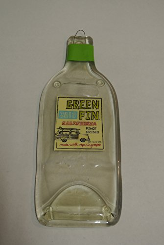 Green Fin Pinot Grigio Winery Melted Wine Bottle Cheese Serving Tray - Wine Gifts