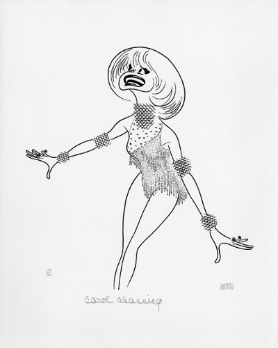 Carol Channing Double-Signed Lithograph by Al Hirschfeld