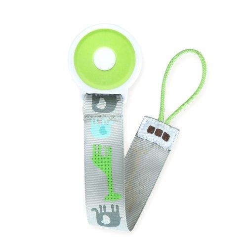 Cole Pacifier Clip Gray Safari