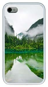 sparkle Case For Iphone 5/5S Cover Jiuzhaigou Sichuan China PC White Case For Iphone 5/5S Cover