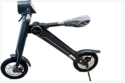 Rooes Foldable Smart E-Scooter Bike With Bluetooth And Bag (Black) (Electric Scooter Eco)