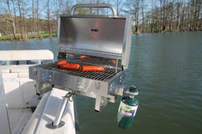 Propane Grill Rail Mount - Bunker up fishin Adjustable Boat Grill Stainless Steel- Less in Shipping Buy Direct