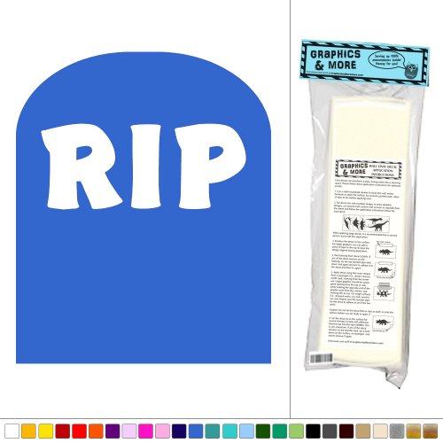 Graphics and More Tombstone - Halloween Gravestone - Vinyl Sticker Decal Wall Art Decor - Gentian (Gravestone Sayings)