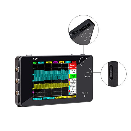 YKEY NEW Update Version DS212 Original Two Channel DSO212 Pocket Size Portable Handheld Mini Digital Storage Oscilloscope