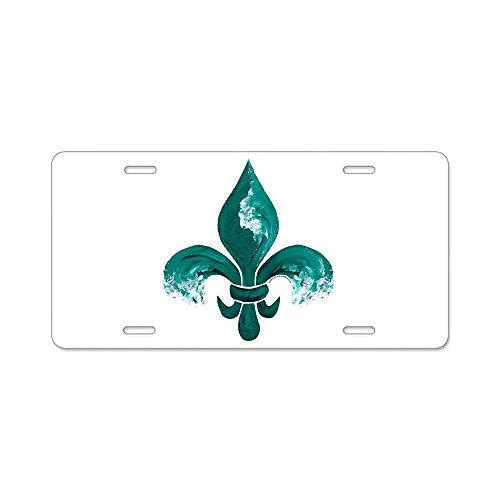 (CafePress - Tulane Fleur-De-Lis - Aluminum License Plate, Front License Plate, Vanity Tag)