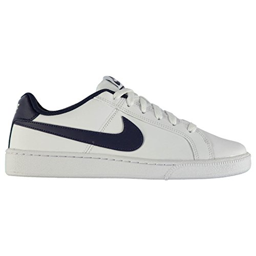 Nike Court Royale - Piel Zapatillas para Hombre Blanco/Azul Marino Casual Zapatillas Zapatos, Blanco y Azul Marino: Amazon.es: Zapatos y complementos