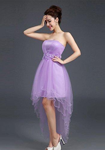Knee Abschlussball Kleid spezielles B Emily Desgin Brautjungfernkleider Lila Style Beauty fairily Sexy Spitze 8aIHzqz