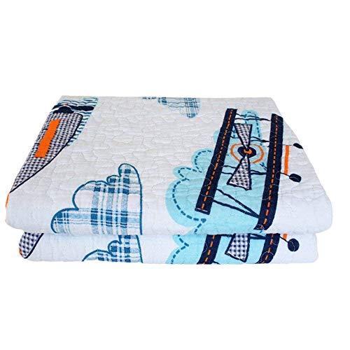 ABREEZE 1 Pcs Quilt Bedspread Kids Plane Airplane Boys Girls Kid