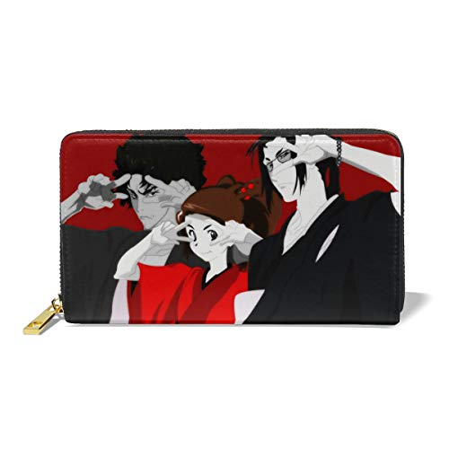 Curtis J Donofrio Samurai Champloo Anime Cartoon PU Leather Wallet Cosplay Credit Card Holder for Men,Women Gift