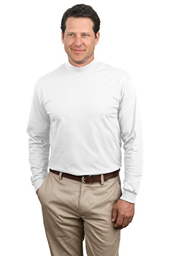 Port & Company Men's Mock Turtleneck - Medium - White