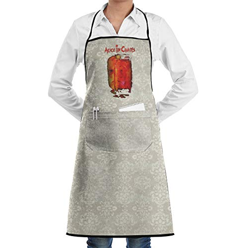 SY COMPACT Alice in Chains Jar Flies Adjustable Bib Aprons Waterdrop Resistant with Pockets Cooking Aprons for Women & Man Chef for $<!--$19.39-->