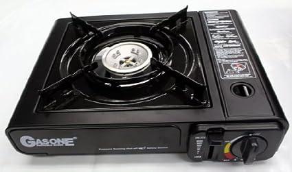Amazon.com: Nueva portátil estufa de gas quemador de butano ...