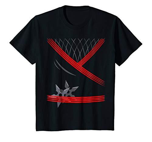 Kids Ninja Costume Shirt One sided Halloween 8 -