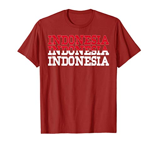- INDONESIA | Indonesian Flag Sports Lovers T-Shirt