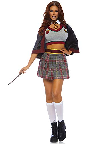 Harry Potter Hermione Halloween Costume (Leg Avenue Women's Costumes, Red/Gold,)