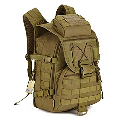 40L Tactical Backpack/Assault Pack/Waterproof military backpack/Bug Out Bag for Hunting Shooting Camping Hiking Traveling School tactical backpack laptop by Nuosheng