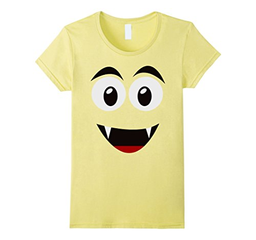 Womens Ghost Face Costume (Womens Emoji Smiling Ghost Shirt Yellow Face Funny Costume Gift Small Lemon)