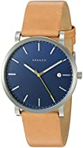 Skagen Men's SKW6279 Hagen Light Brown Leather Watch