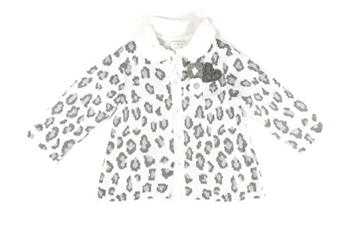 First Impressions Sweater - First Impressions Baby Girls Leopard-pattern Intarsia Collared Cardigan (12 Months 28-30 22-25lbs)