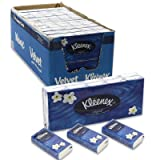 Kleenex Pocket Pack Facial Tissue, 10 Count 3-ply 10 Tissues Per Pack (Case of 24) 2400 Total Tissues