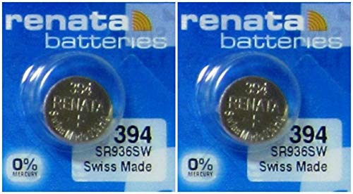 #394 Renata Watch Batteries 2Pcs (Battery Swatch 394)