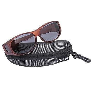 Bezzee-Pro Gafas de Sol überziehbrille para Gafas; polarizado; Hombres & Mujeres Ciclismo & conducción contra Brillos – Ligera – Cómoda – A ...