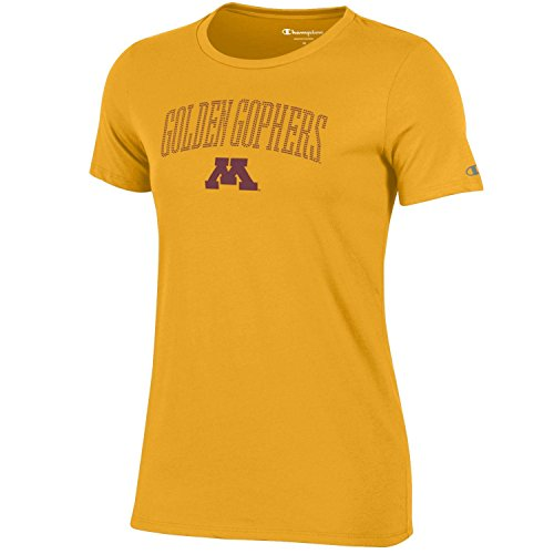 NCAA Minnesota Golden Gophers Women's Champion University Short sleeve T-Shirt, Large, Gold