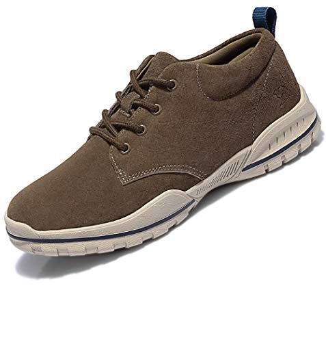 CAMEL CROWN Mens Lightweight Walking Shoes Men Sneakers Breathable Leather Casual Shoes for Outdoor Sport Gym Running Office