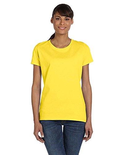 Fruit of the Loom Ladies' 5 oz, HD CottonÖ T-Shirt-Yellow-L