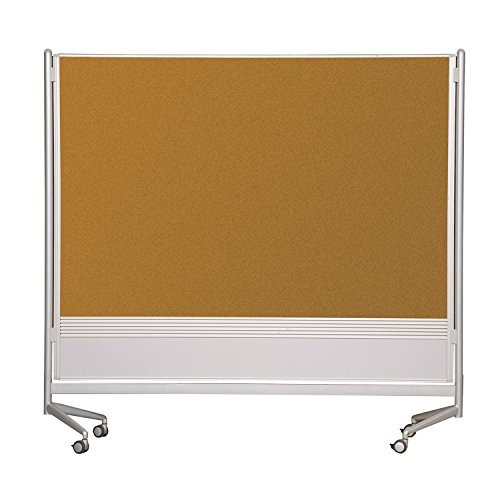 (Balt Mobile Double Sided Divider Dura-Rite HPL Markerboard Natural Cork DOC Room Partition 6'H x 8'W electronic consumers)
