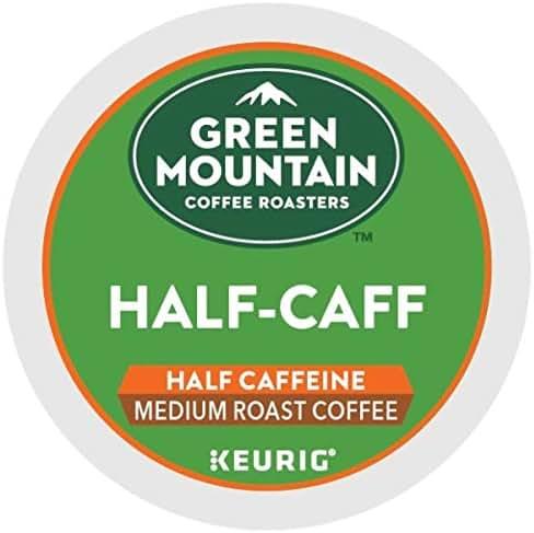 Green Mountain Coffee Roasters Half Caff Keurig Single-Serve K-Cup pods, Medium Roast Coffee, 72 Count