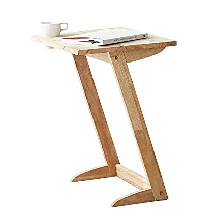best sneakers 3b29b 92874 Amazon.com: Side Snack Table Z Shape Wood Sofa TV Tray Table ...