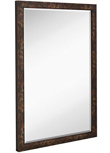 Hamilton Hills Modern Antiqued Framed Mirror | 1