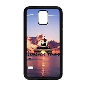 Unique Design Cases Mrphq Samsung Galaxy S5 I9600 Cell Phone Case Disney Forever Young Printed Cover Protector